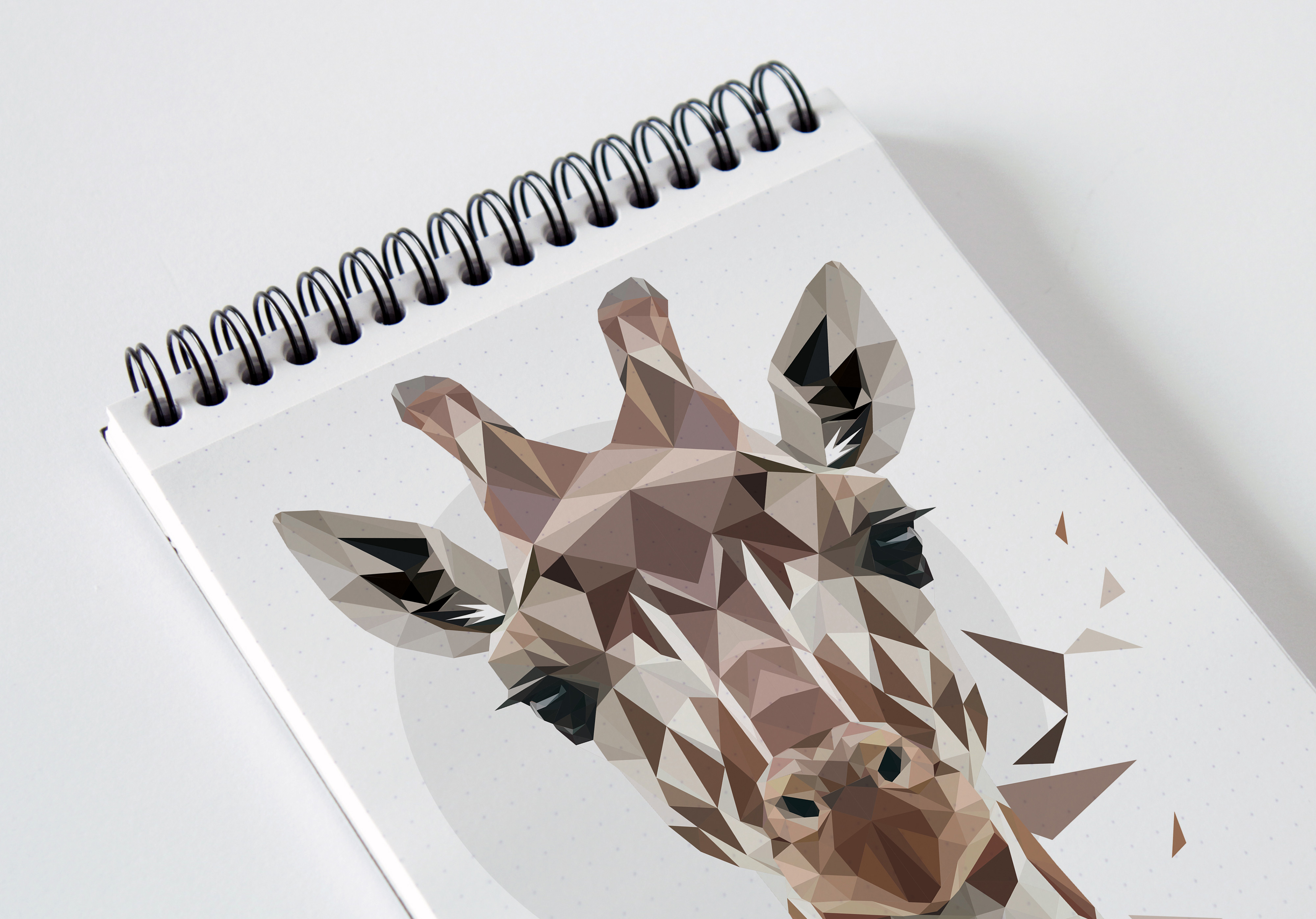 Digital Art - Polygonal Giraffe Art