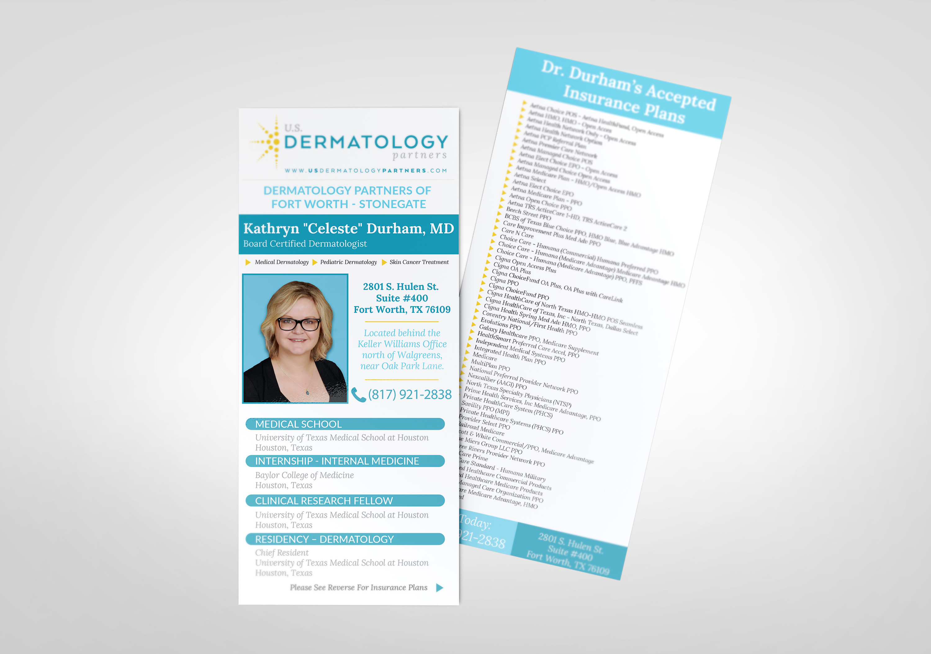 Physician Focused Informational Rack Card Design